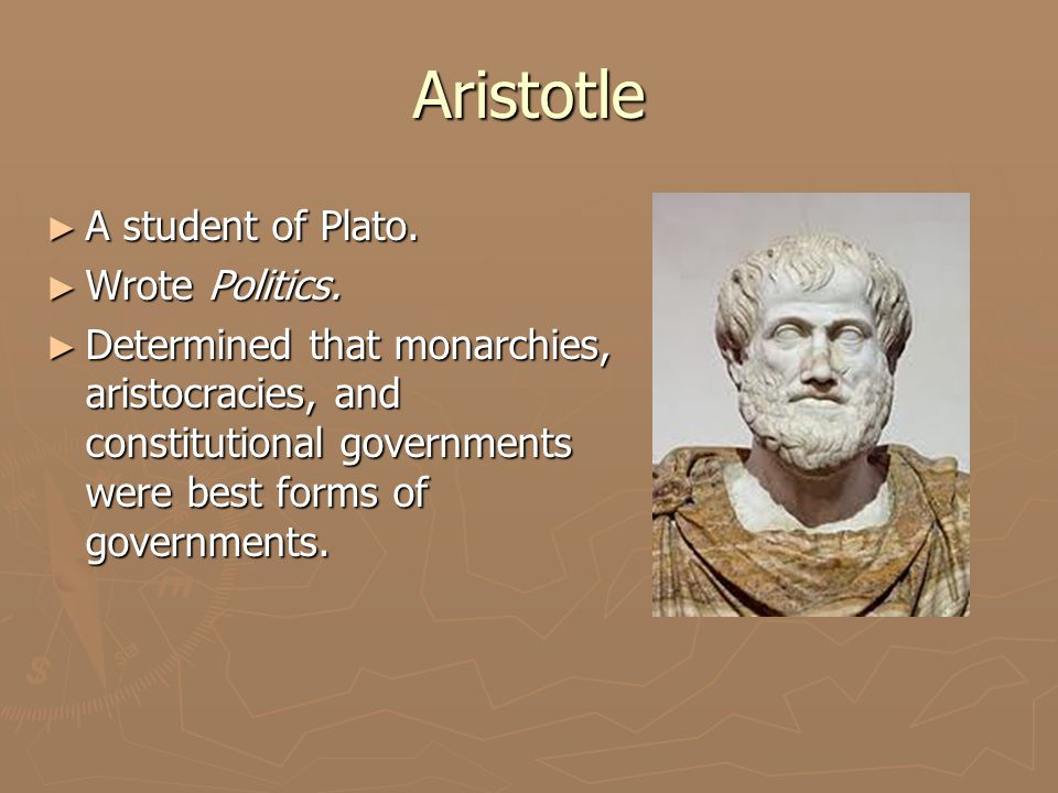 plato and aristotle's forms of government Plato and aristotle views on forms unhappy with the political corruption that plagued the athenian democratic government plato's, and aristotle's.