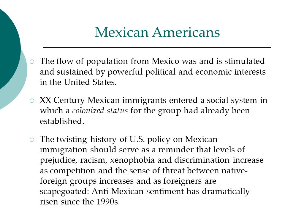 mexico america ethnic discrimination Mexico is party to the united nations international convention on the elimination of all forms of racial discrimination (icerd), the international covenant on economic, social and cultural rights (icescr), and the international covenant on civil and political rights (iccpr.