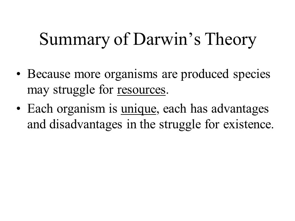 An overview of darwins theory of evolution