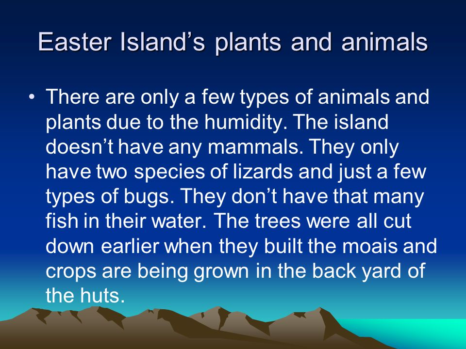 Easter Island's plants and animals