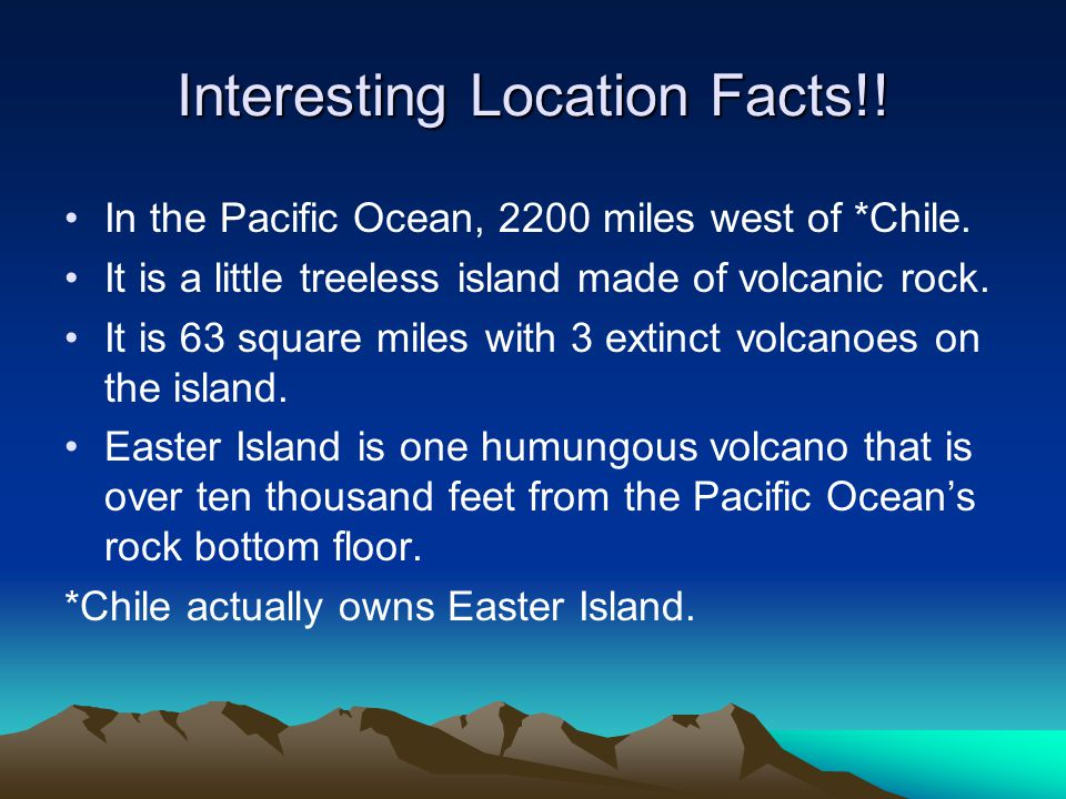 Interesting Location Facts!!