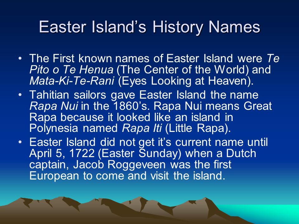 Easter Island's History Names