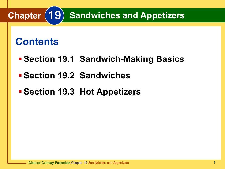 Section 19.1 Sandwich-Making Basics