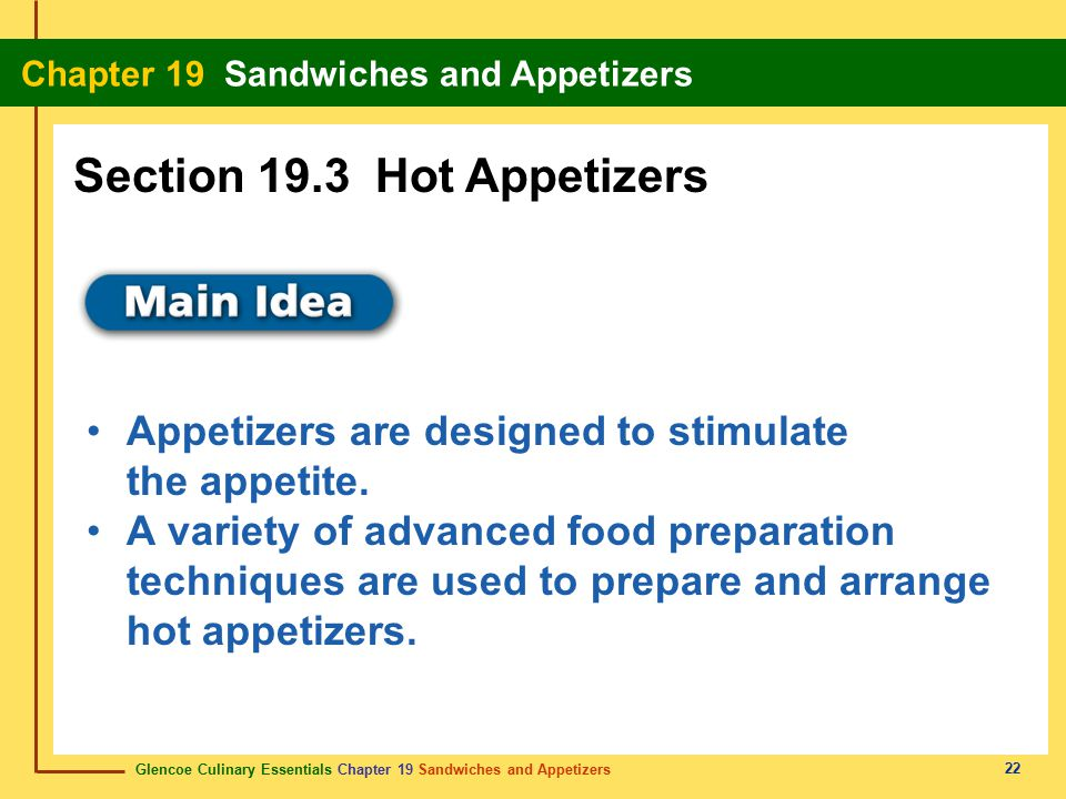 Section 19.3 Hot Appetizers