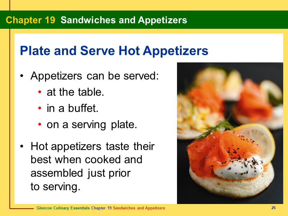 Plate and Serve Hot Appetizers