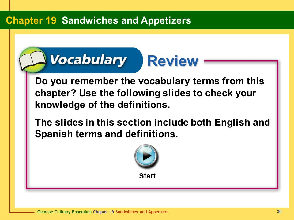 Do you remember the vocabulary terms from this chapter