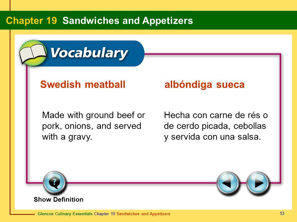 Swedish meatball albóndiga sueca