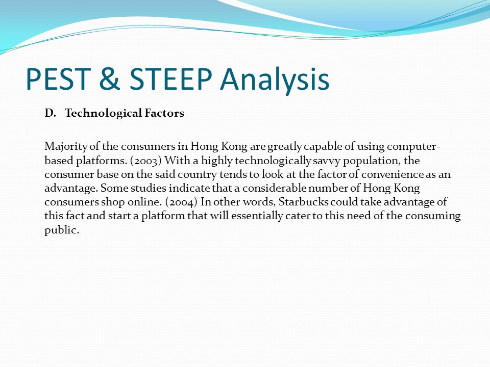 steep analysis starbucks By liz starbucks is an american global coffeehouse company mainly selling coffee of high quality starbucks locations serve hot and cold beverages, whole-bean coffee, full-leaf teas, pastries, and snacks most stores also sell packaged food items, hot and cold sandwiches starbucks belongs to the food service industry, but more precisely, it belongs to the coffee industry.