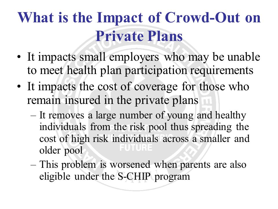 What is the Impact of Crowd-Out on Private Plans