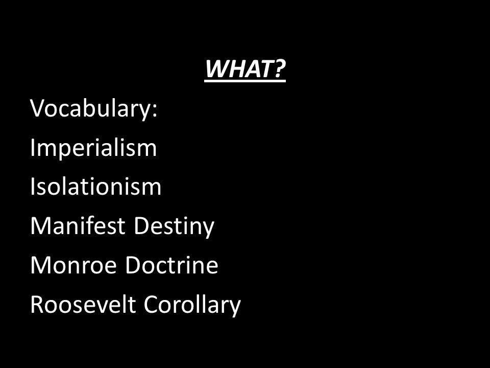 imperialsm and manifest destiny Definitions of manifest destiny, synonyms, antonyms, derivatives of manifest destiny, analogical dictionary of manifest destiny (english.