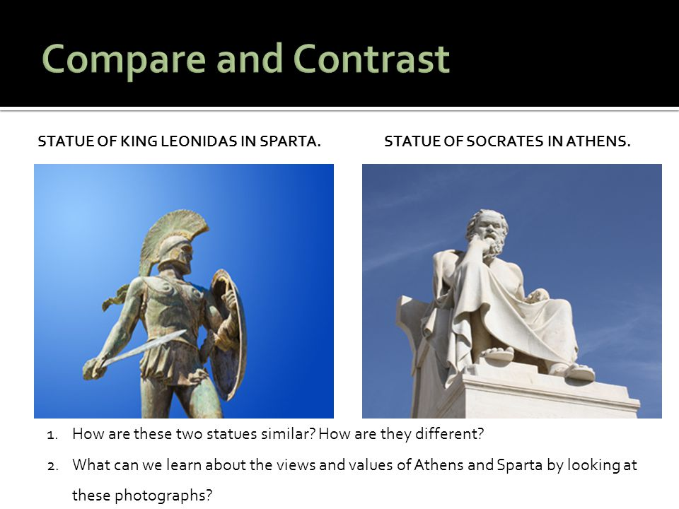 compare and contrast of statue art Free term papers & essays - kroisos vs doryphoros, art the difference between an archaic statue such as kroisos (fig 5-11) and a classical statue such as doryphoros (fig 5-42) may not seem very great in a single glance.