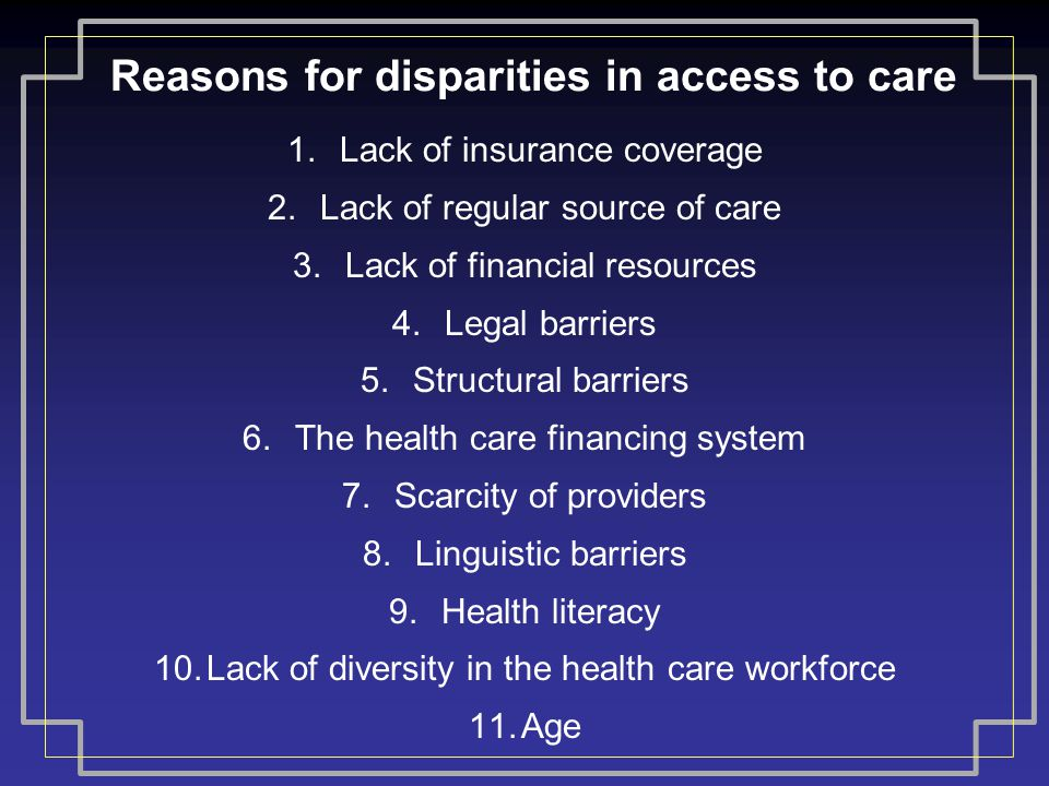 Barriers and Disparities in Health Care Essay Sample