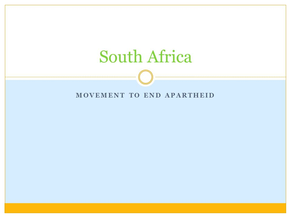 Movement to End Apartheid