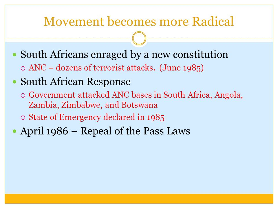Movement becomes more Radical