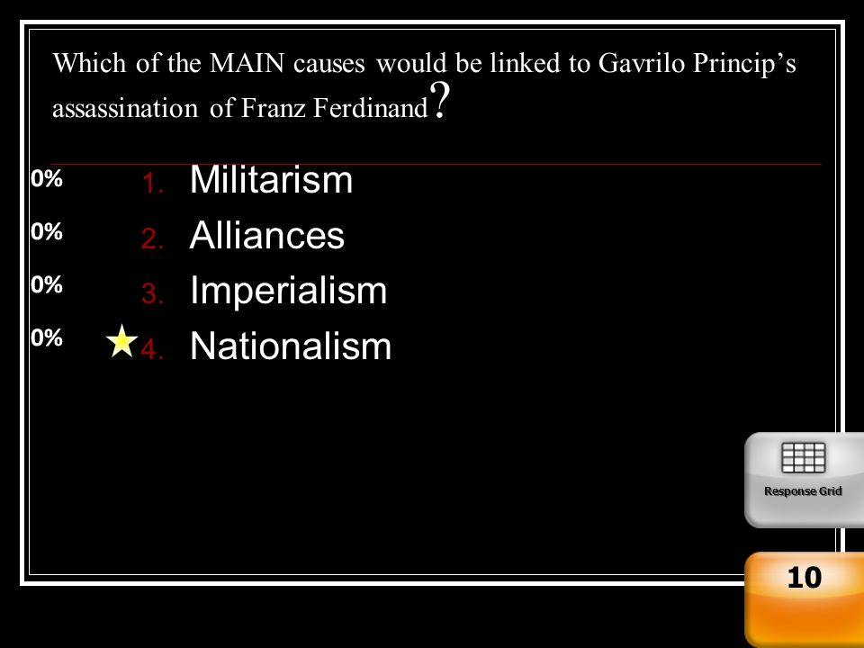 militarism imperialism nationalism and alliances of ww1 6 alliances def: banding together of countries against a common threat by 1914,  all the major powers were linked by a system of alliances the alliances made.
