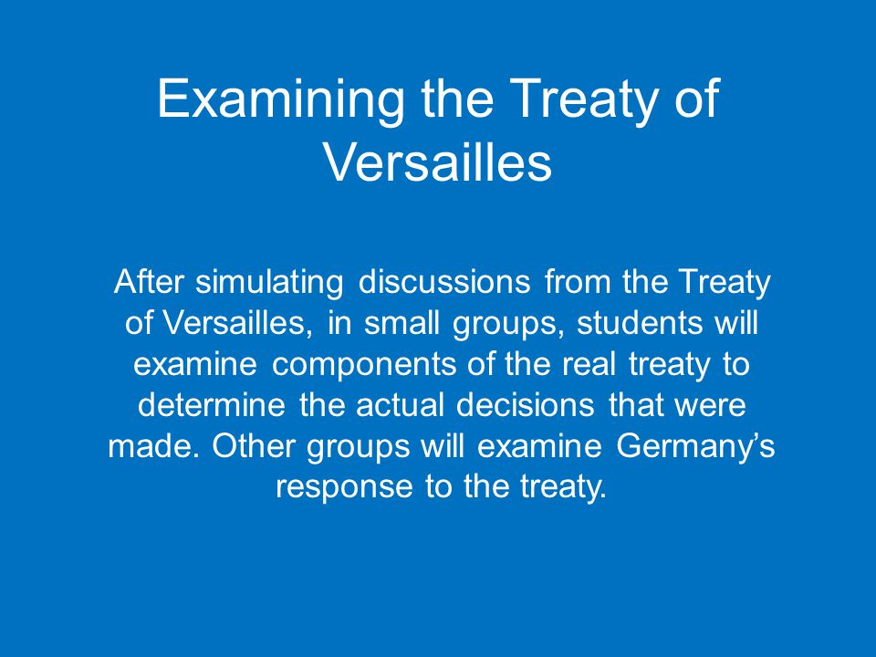 treaty of versailles and effective response Was the treaty of versailles fair to germany which of the allied leaders did you most agree with which of the provisions was the most fair.