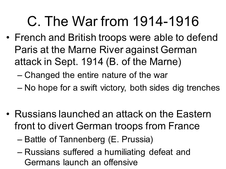 germans and french move to get out of stalemate Explain why a war of movement turned into a stalemate make a judgment about the most important to actually get out of your trenches and re-start an paris was saved but the french and germans are believed to have lost around 250,000 men in the battle the british lost around.
