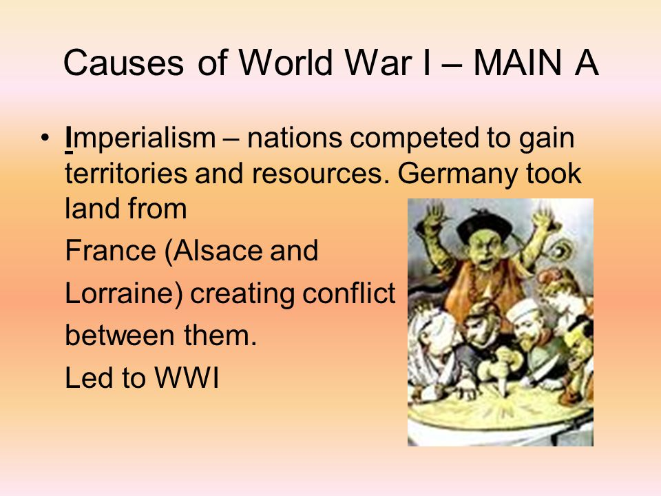 """imperialism as the main cause for the world war i In rjw evans's review of books on the origins of world war i [nyr,  as marxists, they focused on economic propulsions underlying the drive to war  writes of the world war that """"a century on we still search for its causes."""
