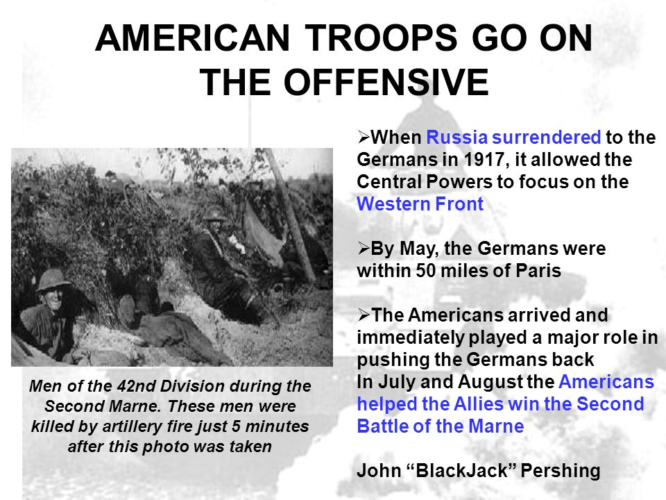 american troops in the second battle of the marne The second battle of the marne marked the turning of the tide in world war i it began with the last german offensive of the conflict and was quickly followed by the first allied offensive victory of 1918 (in viereck & in maerker-branden, 1929) although us troops assumed mainly a support role in.