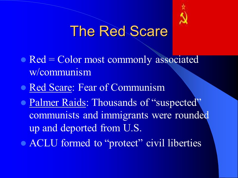 the red scare conflict between communism Between 1947 and 1950, the anti-communist investigation this xenophobia had been prevalent during the red scare in the post-world war i period and responsible.