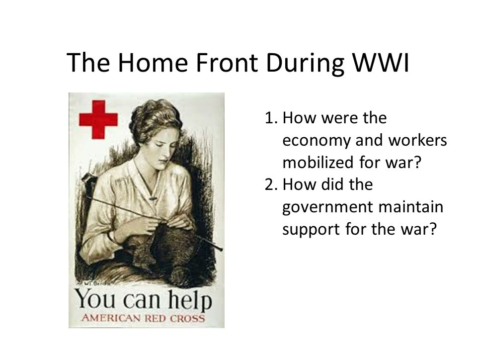 the home front in wwi We are delighted to announce a call for papers for first world war home front  research which has been conducted over the centenary period,.