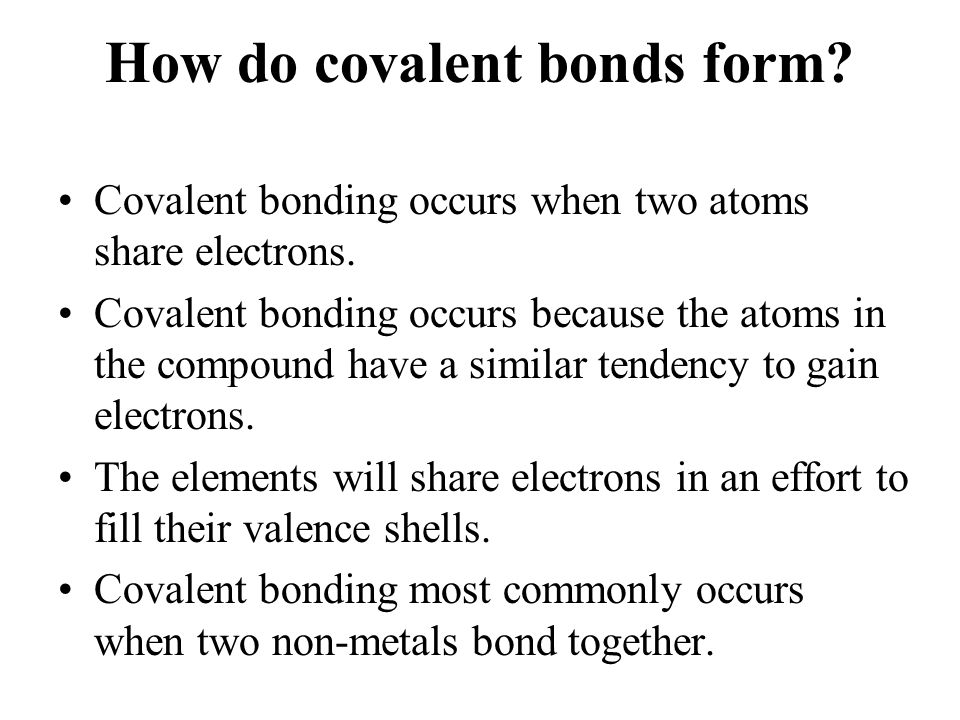 why do covalent bonds form - nomadconvoy.co