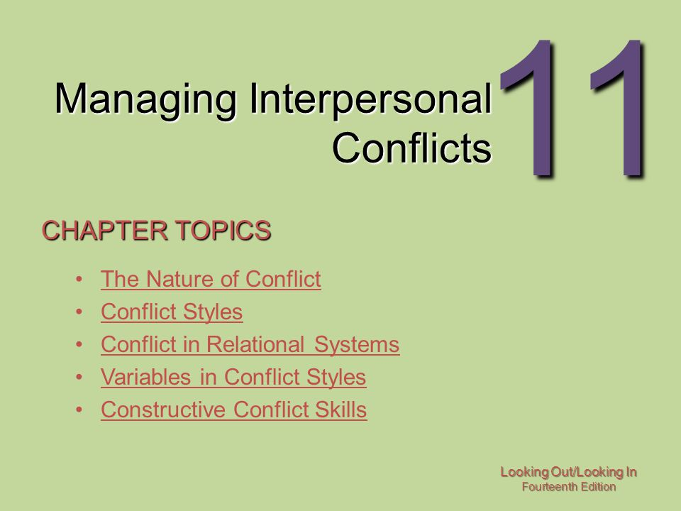 handling interpersonal conflicts How to manage conflict at work  don't be a conflict-avoider difficult interpersonal workplace problems won't disappear by ignoring them they'll only get worse  chronic conflict-avoiders.