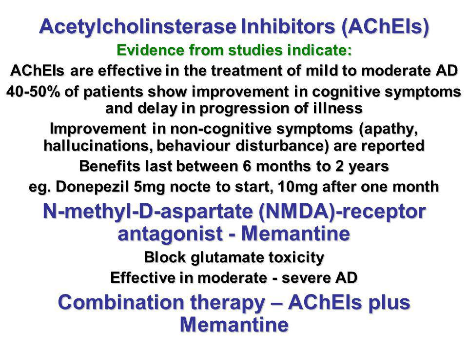 Acetylcholinsterase Inhibitors (AChEIs)