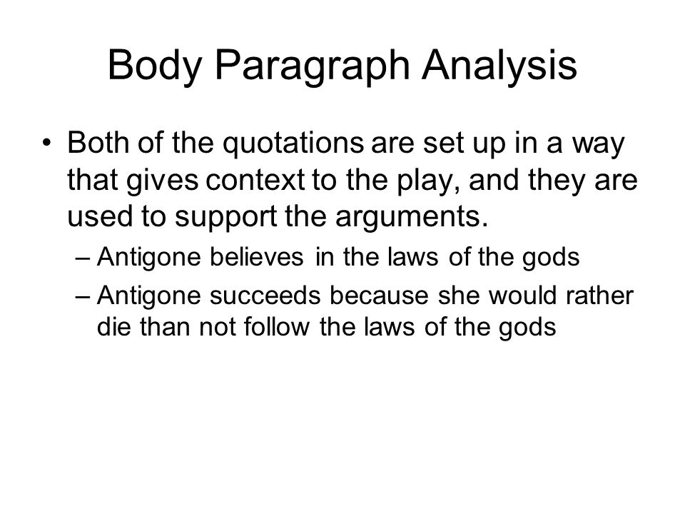 antigone essay ppt video online  body paragraph analysis