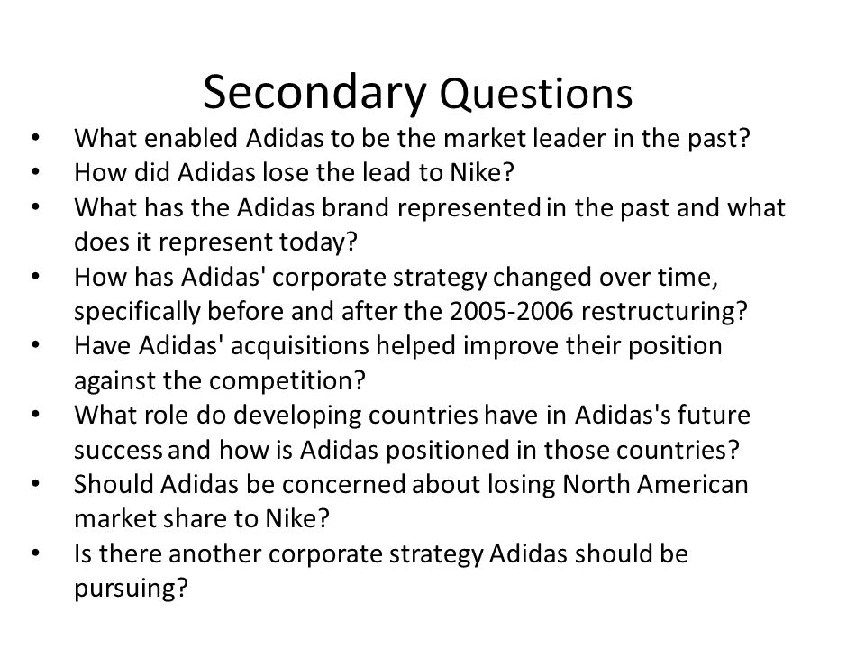 what is adidass corporate strategy 1 what is adidas' corporate strategy was there a common strategic approach utilized in managing the company's lineup - answered by a verified tutor.