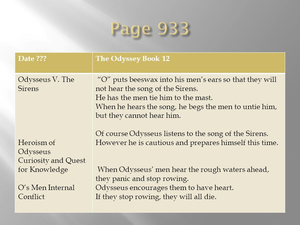 odyssey odysseus is a good Odysseus: top ten quotes, free study guides and book notes including  and  come back to your strong-founded house, and to the land of your fathers.