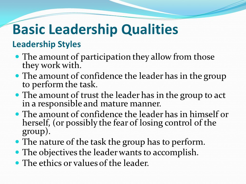 styles and attributes needed for leadership Identify areas to improve these questions will help highlight which leadership qualities you are strong in, and which you need to improve using your answers to the questions, divide your leadership qualities into three parts.