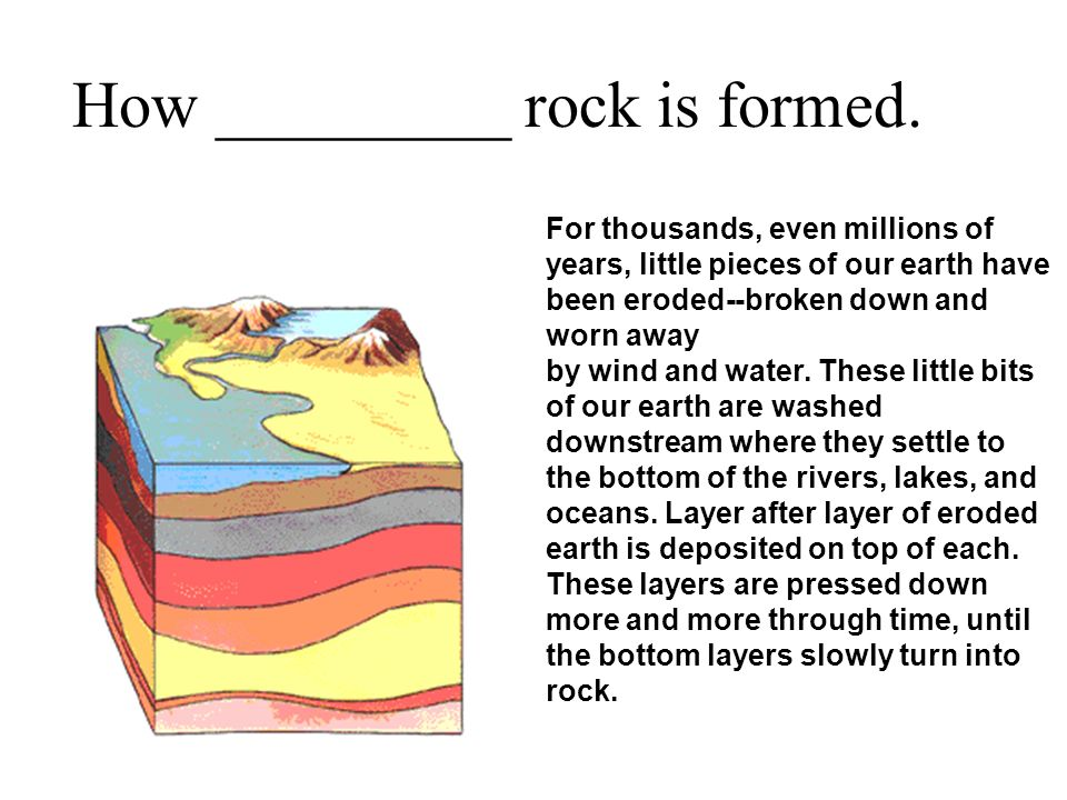 How _________ rock is formed.