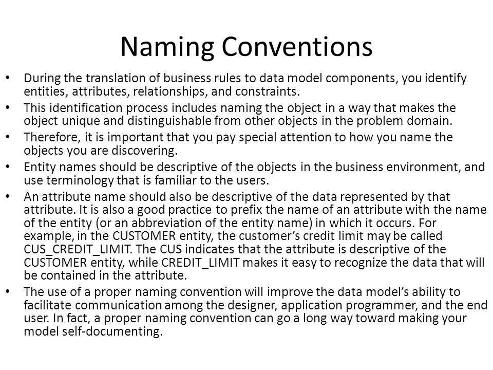 Naming Convention: Ppt Download