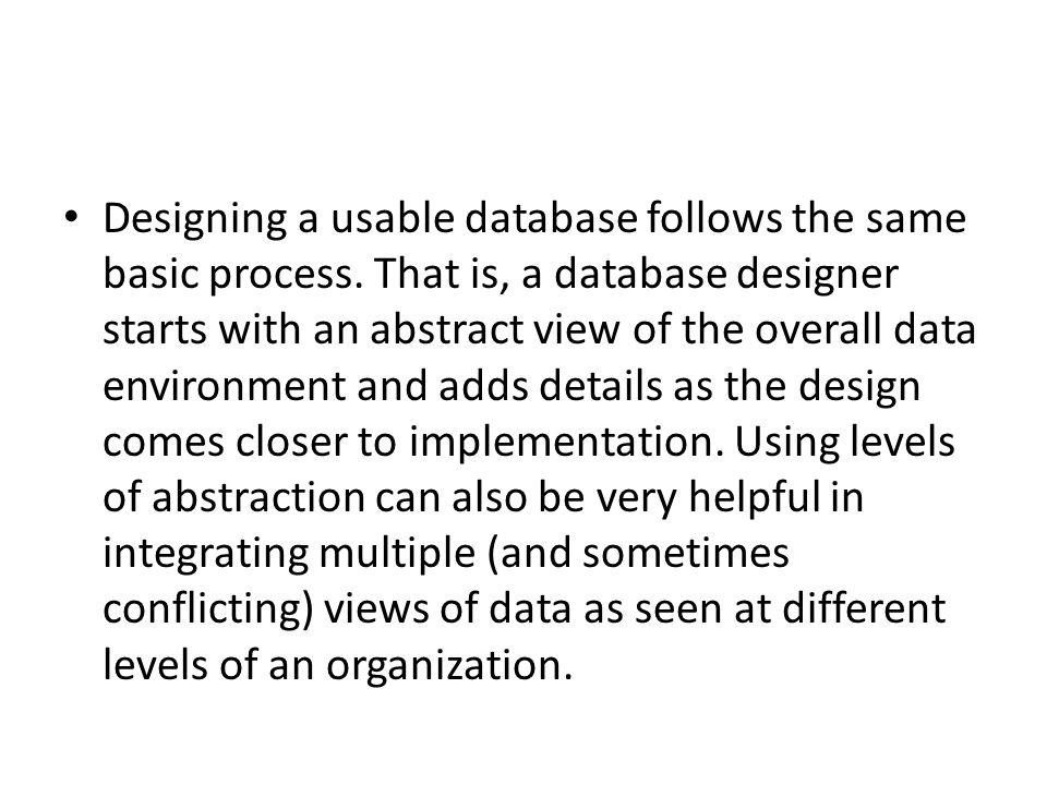 70 designing a usable database - What Is Database Designer