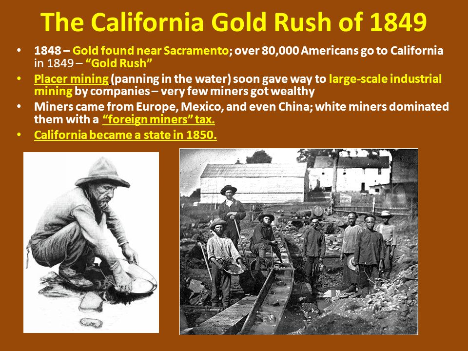 GOLD RUSH OF 1849