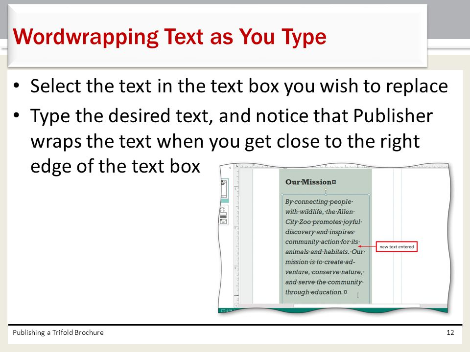 Wordwrapping Text as You Type