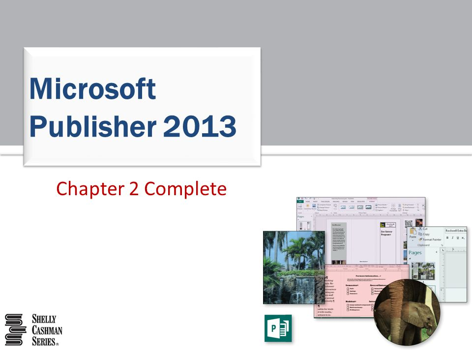 Microsoft Publisher 2013 Chapter 2 Complete