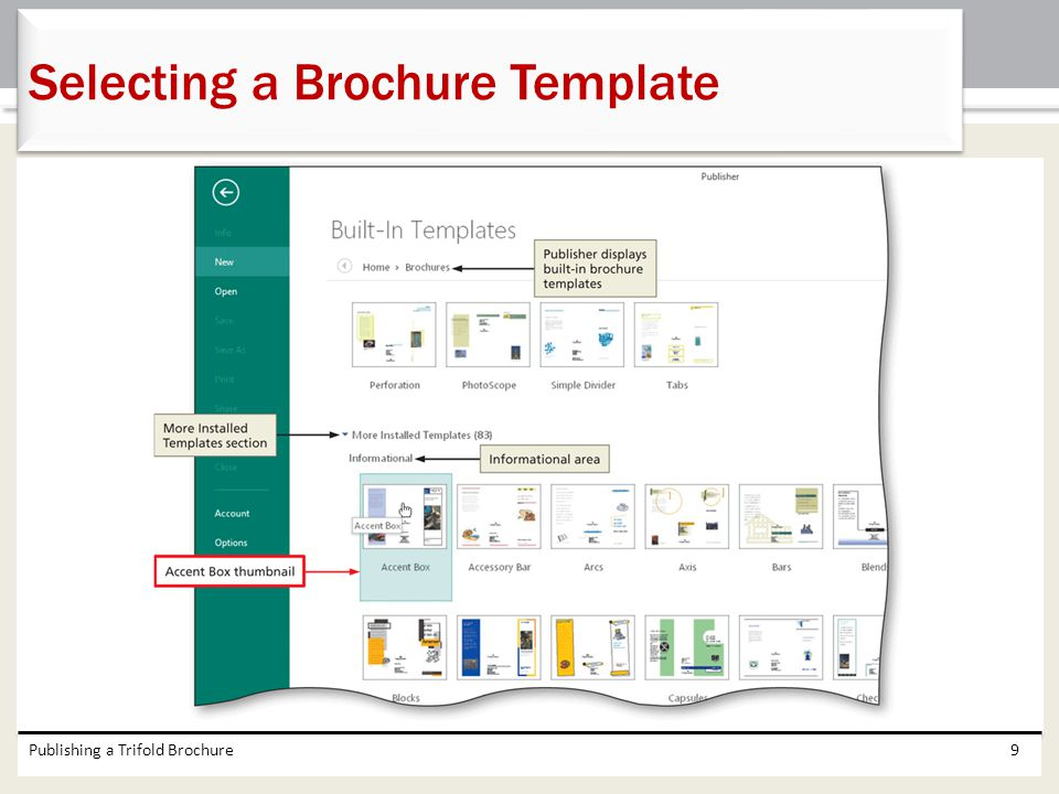 Selecting a Brochure Template
