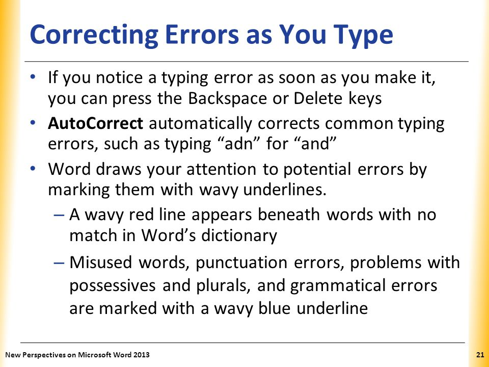 Correcting Errors as You Type