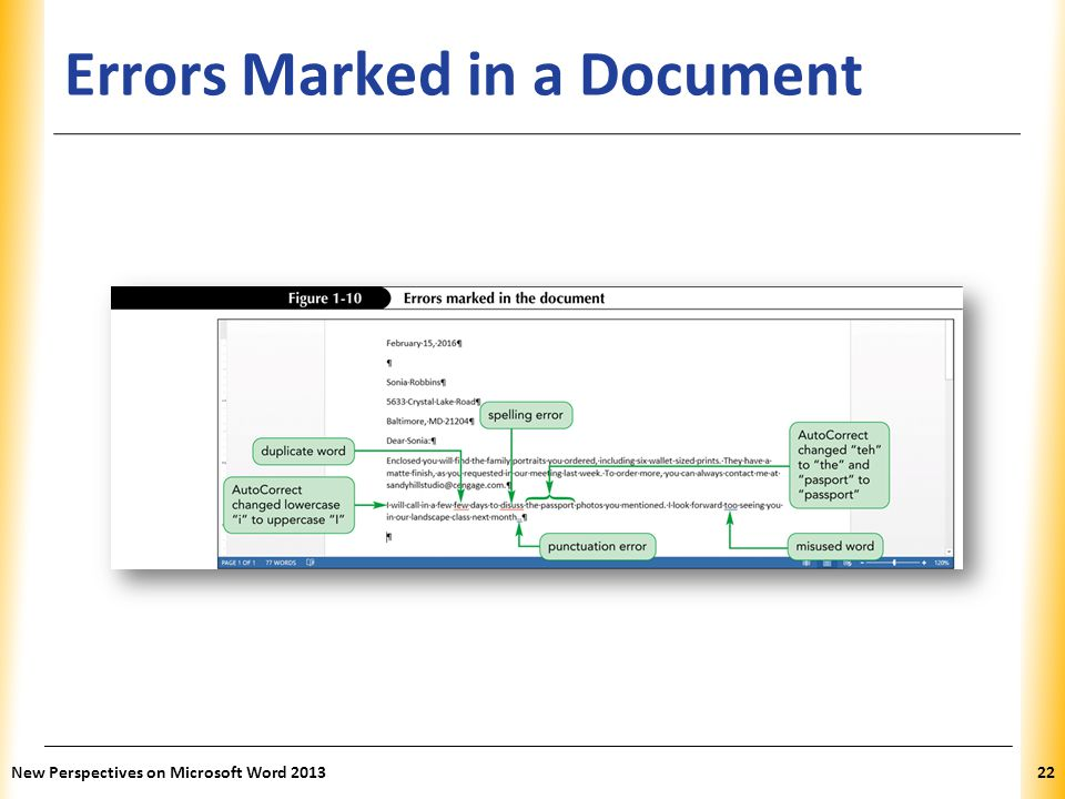 Errors Marked in a Document