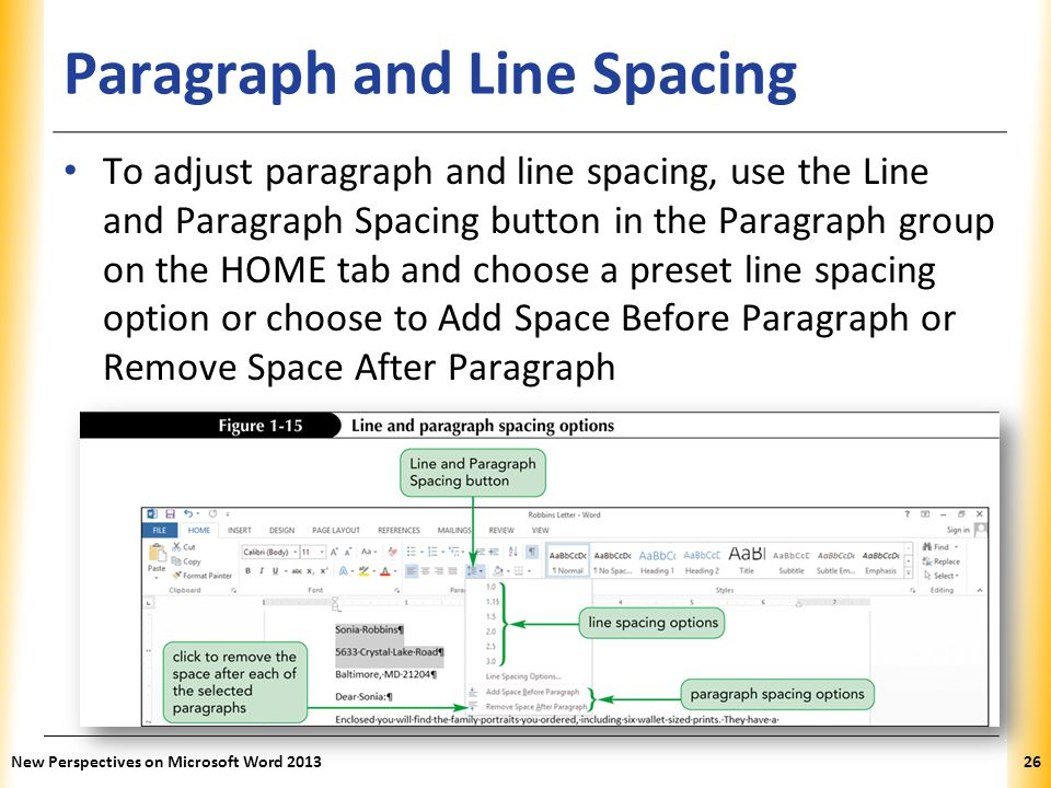 Paragraph and Line Spacing