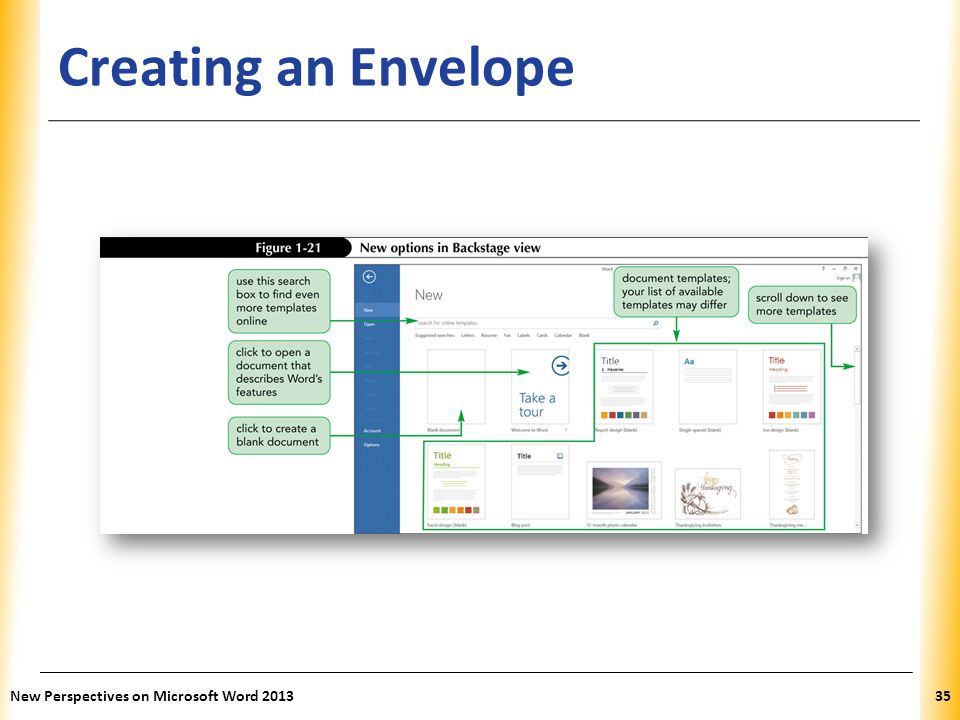 Creating an Envelope New Perspectives on Microsoft Word 2013