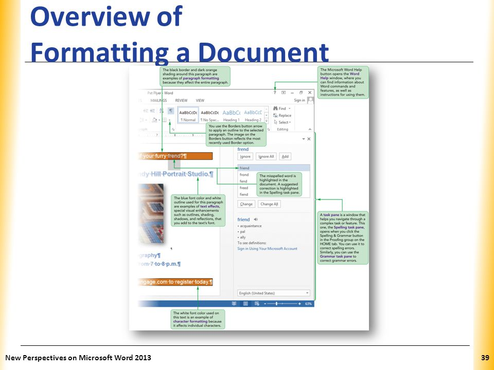 Overview of Formatting a Document