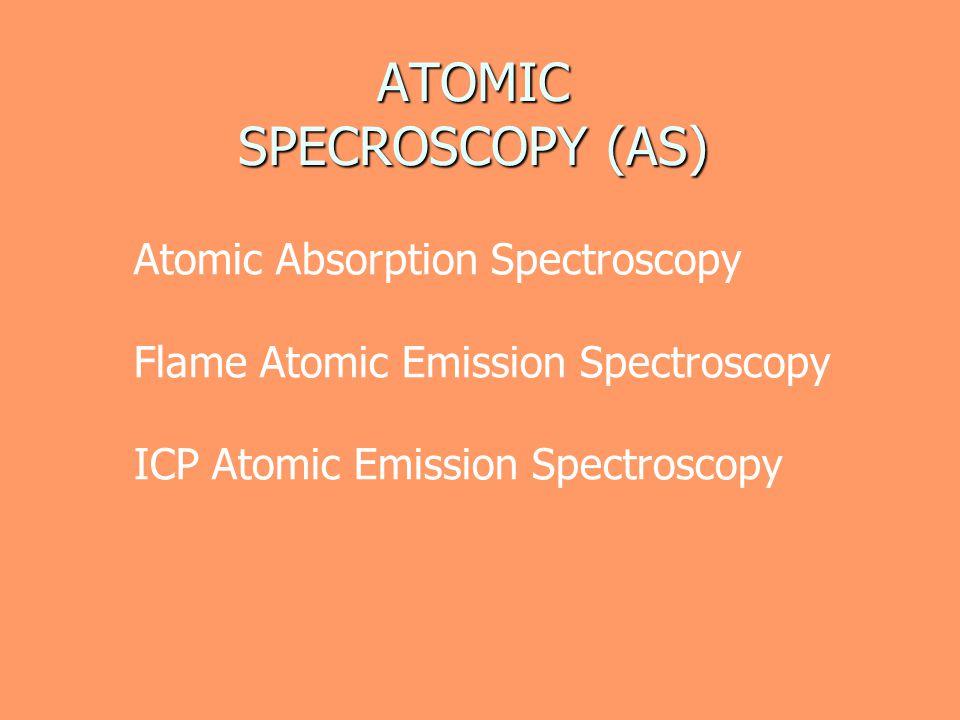 ATOMIC SPECROSCOPY (AS)