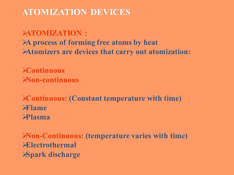 ATOMIZATION DEVICES ATOMIZATION :