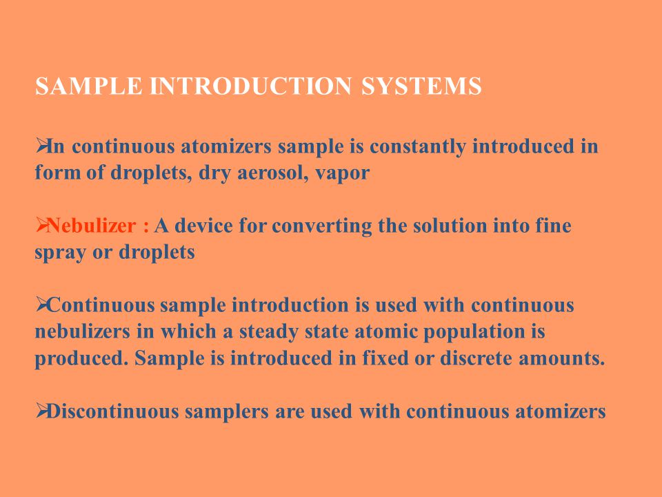 SAMPLE INTRODUCTION SYSTEMS