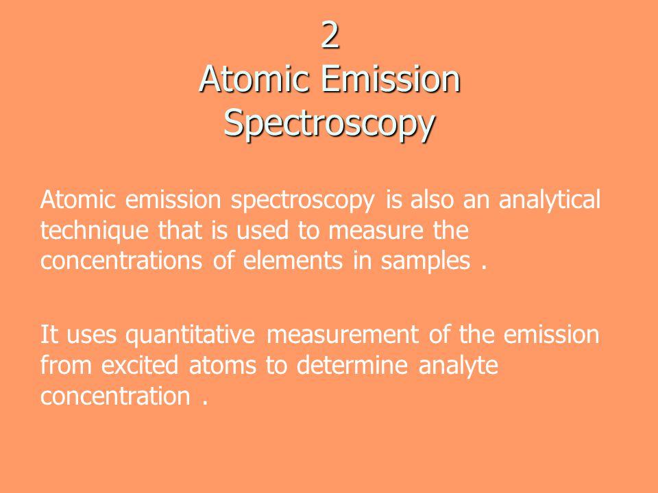 2 Atomic Emission Spectroscopy