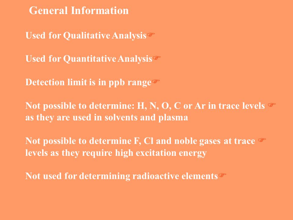 General Information Used for Qualitative Analysis