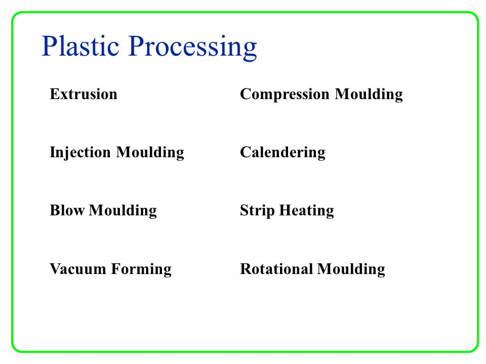 Plastic Processing Extrusion Injection Moulding Blow Moulding